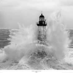 "Poster photo Le phare d'Ar-Men, ""l'enfer de l'enfer"" - Finistère - Bretagne Philip Plisson Photos Encadrées, Cool Photos, Photo Ocean, Photo Bretagne, Poster Photo, Lighthouse Pictures, Stormy Sea, Beacon Of Light, Light Of The World"