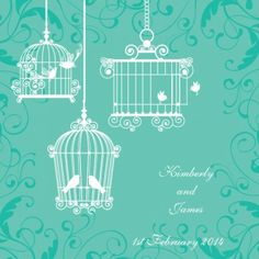 Melody Square Vertical Invitation in Sea Green - DreamDay Wedding Invitations