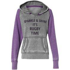 Sparkle & shine  | Custom trendy vintage rugby hoodie.