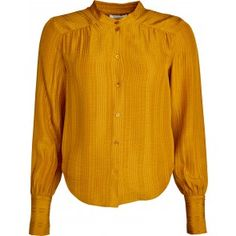 Lucretta sikreskjorte med brede ærmer