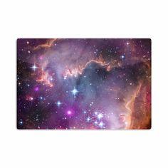 """Suzanne Carter """"Cosmic Cloud"""" Celestial Purple Aluminum Artistic Magnet"""