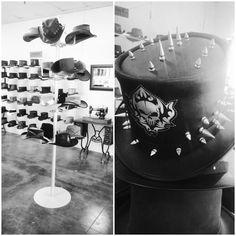 The Hat Hangar! #TheHatHangar #AmericanHatMakers #1800NiceHat #smallbusiness #marketing #success #leatherhats #wholesale #hatmanufacturers #branding