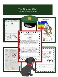 Freebie! May 9th and 10th to first 50 downloads. Please leave a comment in return for the unit! I'd appreciate the feedback! This would be a good mini-unit for Memorial Day.  This mini, 3 day unit explores the roles of dogs in the military, the types of breeds used, and how the dogs are trained.