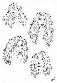 Long Hair Drawing, Drawing Base, Hair Styles Drawing, Art Reference Poses, Drawing Reference, Face Reference, Drawing Tips, Male Drawing, Sketch Drawing