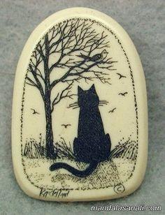 taş boyama kedi yapımı