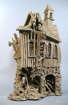 Buick Barn - Buildings - Gallery - John Brickels, Architectural Sculpture and Claymobiles, Essex Jct, Vermont