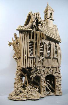 Buick Barn - John Brickels, Architectural Sculpture & Claymobiles, Essex Jct, Vermont