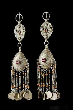 Morocco -  Earrings; two matching pairs…