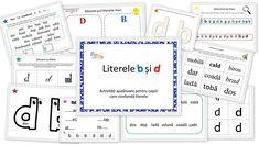 Literele b si d - confuzie - activitati ajutatoare - EmaLaScoala Bingo, Bullet Journal, Homeschooling, Workout, Projects, Log Projects, Blue Prints, Work Out, Homeschool