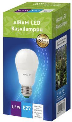 Led kasvilamppu http://www.epressi.com/tiedotteet/maatalous/airam-led-erikoislamput-kasvilamppu-ja-paivanvalolamppu.html