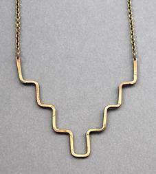 Long Minimalist Brass Necklace