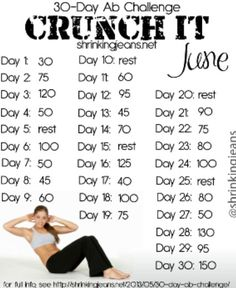 Did the 30 day squat challenge in June now I am adding the Ab Challenge. This time I'll take a b4 & after.
