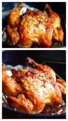 Roasted Chicken Crispy Roasted Garlic Chicken ~ Learn how to make your own roast chicken. It is SO easy.Crispy Roasted Garlic Chicken ~ Learn how to make your own roast chicken. It is SO easy. Crispy Roasted Chicken, Roasted Garlic, Whole Roasted Chicken, Rosted Chicken, Chicken Giblets, Garlic Minced, Turkey Recipes, Dinner Recipes, Turkey Dishes