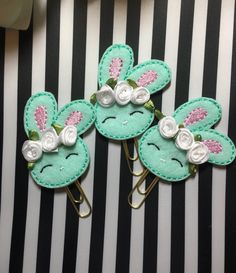 A personal favorite from my Etsy shop https://www.etsy.com/listing/491927016/bunny-paper-clip-spring-paper-clip