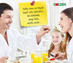 Hafta sonu en büyük keyif; aile kahvaltısı, bol kahkaha, sevgi dolu, mutlu anlar... #GoldenMeyveSuyu