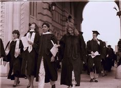 Rice University Commencement, view of graduates through the Sallyport, 1987