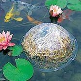 Barley bales to keep koi ponds and fountain water crystal clear.