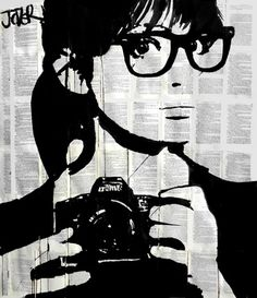 "Saatchi Art Artist Loui Jover; Drawing, ""selfie (SOLD)"" #art"