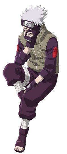 Naruto Kakashi Hatake Sitting - Lineart Colored by DennisStelly on deviantART. Naruto Shippuden Anime, Sasuke, Gaara, Naruto Sasuke Sakura, Anime