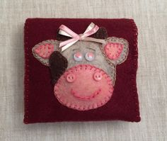 Cute Cow Shaped Felt Small Notepad,Party Favor,Handmade Notepad,Small…