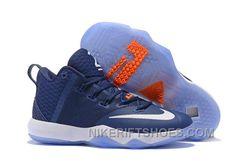 a1331c9ec28a Nike Lebron Ambassador 9 Zoom Air Men Navy Blue White Orange