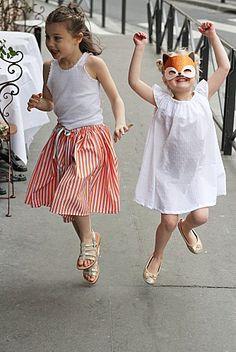 Jupe orangeade et Robe Blanche Le Carrousel