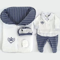 Saída de Maternidade Meu Príncipe 4 Peças Branco Plush