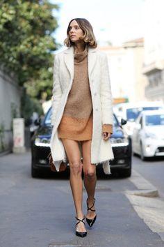 Street Style wearing neutrals