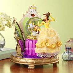 Beauty And The Beast Belle Wardrobe Dress Snow Globe Disney