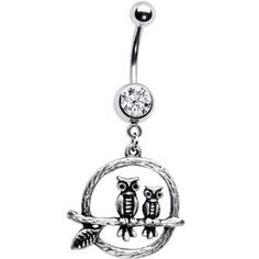 Crystalline Gem Perched Owls Belly Ring (Jewelry)  http://balanceddiet.me.uk/lushstuff.php?p=B0043QQFTC  B0043QQFTC