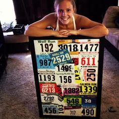 So doing this with all my race bibs... may add my medals too!