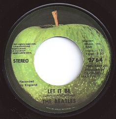Let It Be / Beatles 45 circa 1970 Kinds Of Music, I Love Music, Love Songs, Good Music, Apple Records, Old Records, Vinyl Records, 50s Music, Music Tv