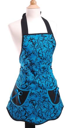 flirty aprons. VERY cool color.