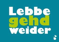"""Postkarte """"Lebbe gehd weider""""– Meine Heimat H... von MainSpatzen auf DaWanda.com"""