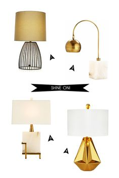 #2 & #3: Plantation Design Kayden Marble Task Lamp ($675) and Kayden Marble Table Lamp ($550)