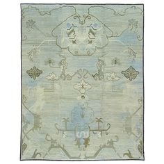 Cloud Oushak | From a unique collection of antique and modern chinese and east asian rugs at https://www.1stdibs.com/furniture/rugs-carpets/chinese-rugs/