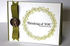 Thinking Of You Card by Heather Nichols for Papertrey Ink (October 2013)