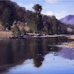 Macquarie River Reflections - 120 x 90 © Copyright John Wilson