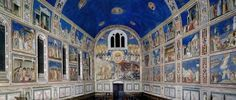 Visione interna cappella degli Scrovegni, Padova