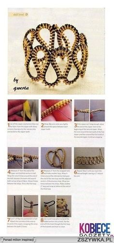 Diy zipper bracelet:
