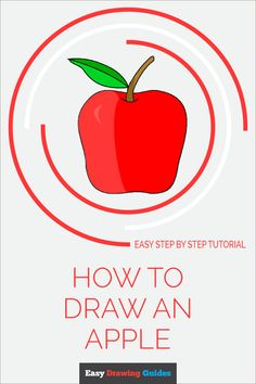 Learn to draw a cute apple. This step-by-step tutorial makes it easy. Kids and beginners alike can now draw a great looking apple. Drawing Tutorials For Kids, Drawing For Beginners, Drawing For Kids, Drawing Ideas, Easy Art Projects, Craft Projects For Kids, Arts And Crafts Projects, Drawing Lessons, Art Lessons