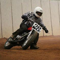 """@flattrackin's photo: """"Speedway bike in action. #flattrackin #flattrack #dirttrack #suzuki"""""""