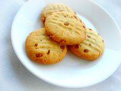 Eggless Cardamom & Chironji Butter Cookies (Priya's Versatile Recipes)