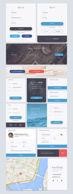 This pack comes with 200 design elements vector based and 7 categories (Articles Ecommerce Forms Headers Navigations Widgets Elements) to give a s. Login Design, Web Design Tips, App Ui Design, User Interface Design, Site Design, App Design Inspiration, Formulários Web, Application Ui Design, Conception D'interface