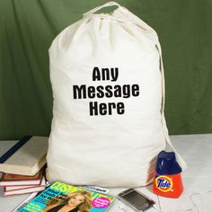 Personalized Any Message Here Personalized Laundry Bag