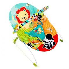 Hamaquita bebé Bright Starts Roaming Safari. La opción más recomendada para tener a tu bebé en casa cerca de ti. Práctica, ligera y manejable.