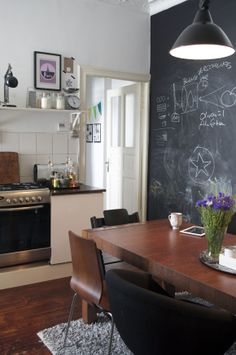 kleine k che einrichten k chenideen esstisch platzsparend k che pinterest layout. Black Bedroom Furniture Sets. Home Design Ideas