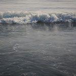 rompiendo en el mar, óleo sobre lienzo, 73x100 cm.