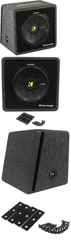 """Car Subwoofers: Kicker 40Vcws124 Comps 12"""" 4-Ohm Car Subwoofer In Vented Sub Enclosure Vcomps12 -> BUY IT NOW ONLY: $129.95 on eBay!"""