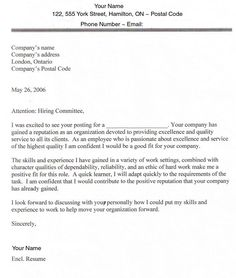 cover letter sample for jobs